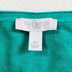Talbots Sweaters - Talbots 3/4 Sleeve Light Sweater EUC In Green SP